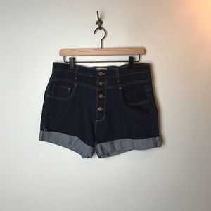ModCloth High Rise Button Fly Shorts - 1X